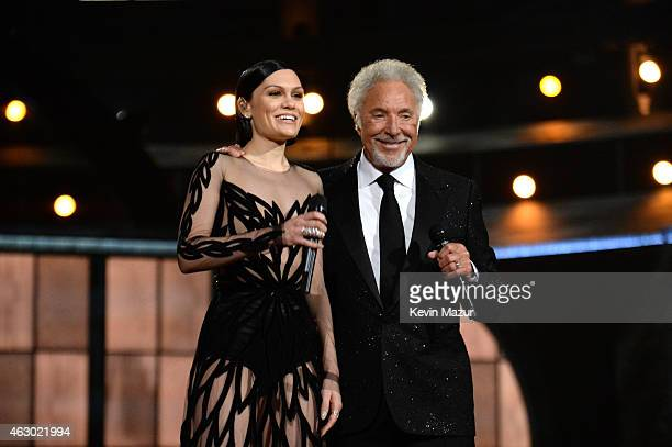 Jessie J and Tom Jones attend The 57th Annual GRAMMY Awards at STAPLES Center on February 8 2015 in Los Angeles California