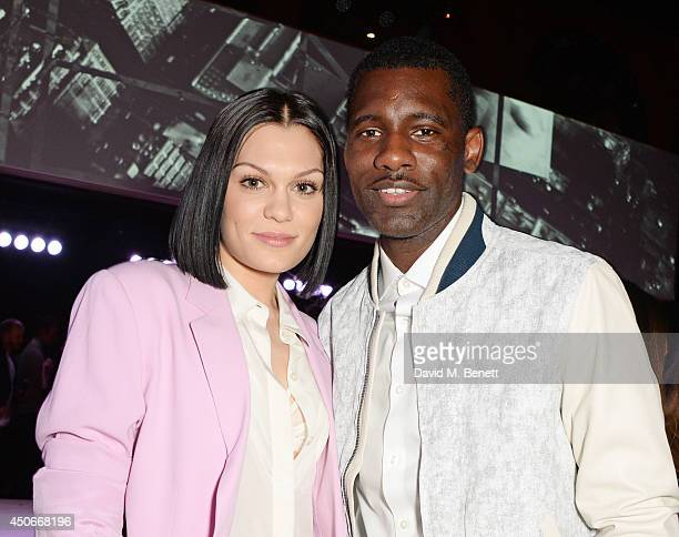 Jessie J and Wretch 32 attends the Esquire DKNY MEN official opening night party for London Collections Men at one Embankment on June 15 2014 in...