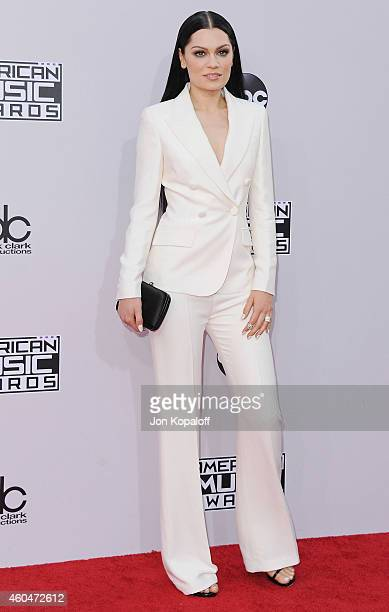 Jessie J arrives at the 2014 American Music Awards at Nokia Theatre LA Live on November 23 2014 in Los Angeles California