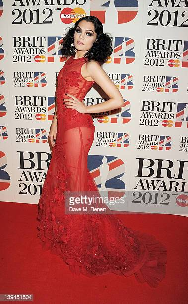 Jessie J arrives at the BRIT Awards 2012 at O2 Arena on February 21 2012 in London England