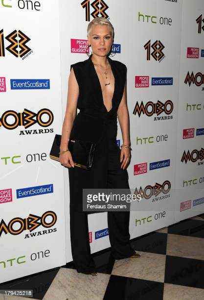 Jessie J arrives at the nominations launch for the MOBO Awards at Grand Connaught Rooms on September 3 2013 in London England
