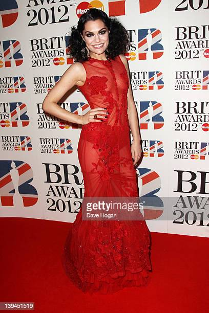 Jessie J attends The Brit Awards 2012 at The O2 Arena on February 21 2012 in London England