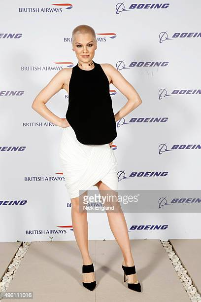 Jessie J attends the British Airways celebration of the launch of its new Boing 7879 Dreamliner on its daily LondonAbu DhabiMuscat service British...
