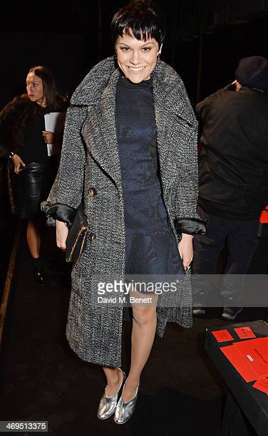 Jessie J attends the Hunter Original AW 2014 Show at Ambika P3 Gallery University of Westminster on February 15 2014 in London England
