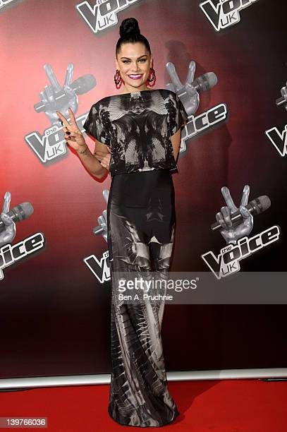 Jessie J attends the launch of 'The Voice UK' at Soho Hotel on February 24 2012 in London England