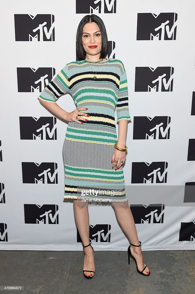 Jessie J attends the MTV 2015 Upfront presentation on April 21, 2015 in New York City.