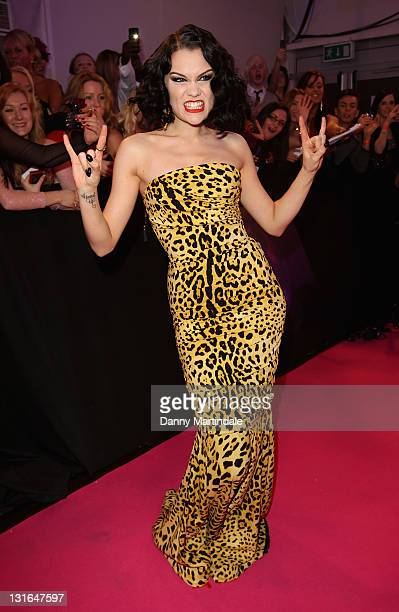 Jessie J attends the MTV Europe Music Awards 2011 at Odyssey Arena on November 6 2011 in Belfast Northern Ireland