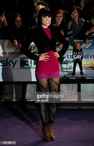 Jessie J attends the UK Premiere of Justin Bieber Never Say Never at Cineworld 02 Arena on February 16 2011 in London England