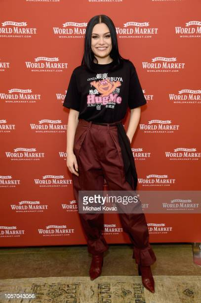 Jessie J celebrates the holiday season at Cost Plus World Market at the Original Farmers Market on November 3 2018 in Los Angeles California