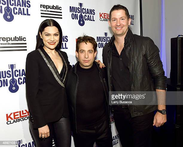 Jessie J, Charlie Walk and Pete Griffin attend Musicians On Call Celebrates Its 15th Anniversary Honoring Kelly Clarkson And EVP Of Republic Records,...