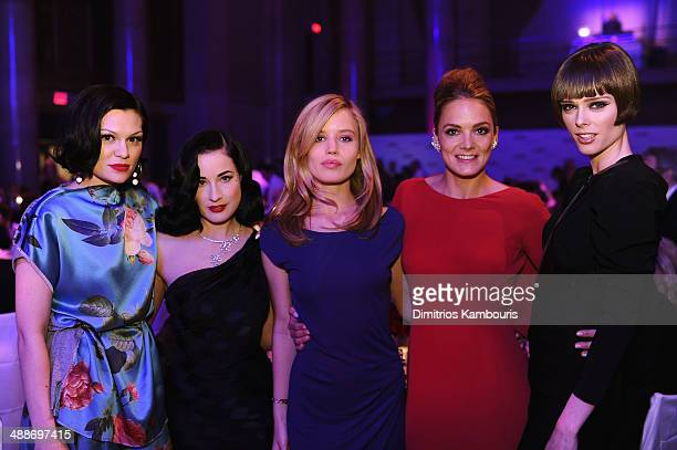 Jessie J Dita von Teese Georgia May Jagger CoFounder/Board member of Delete Blood Cancer Katharina Harf and Coco Rocha attend the 2014 Delete Blood...