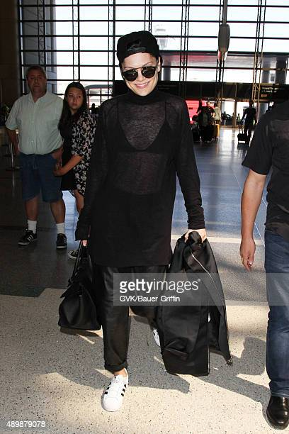 Jessie J is seen at LAX on September 24 2015 in Los Angeles California