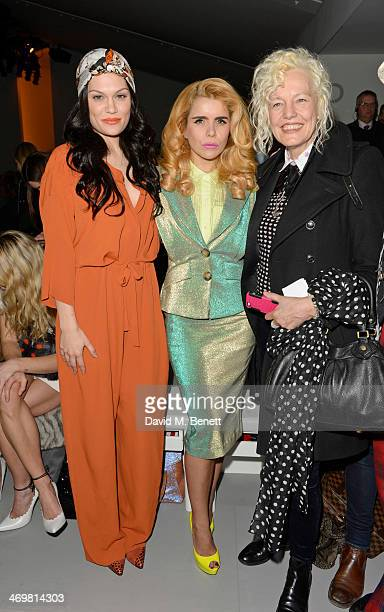Jessie J Paloma Faith and Ellen Von Unwerth attend the Vivienne Westwood Red Label show at London Fashion Week AW14 at the BFC Courtyard Showspace on...
