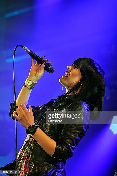 Jessie J performs at Mencap's Little Noise Sessions at the Union Chapel on November 16 2010 in London England