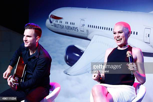 Jessie J performs at the British Airways celebration of the launch of its new Boing 7879 Dreamliner on its daily LondonAbu DhabiMuscat service...