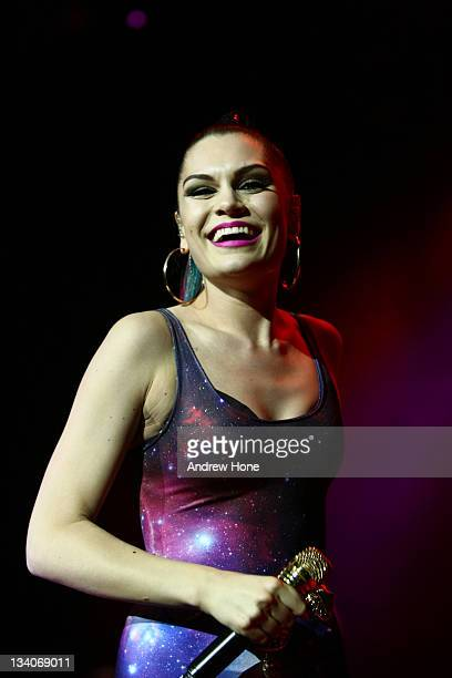 Jessie J performs during F1 Rocks in Sao Paulo Jessie J and Macy Gray at Via Funchal on November 24 2011 in Sao Paulo Brazil