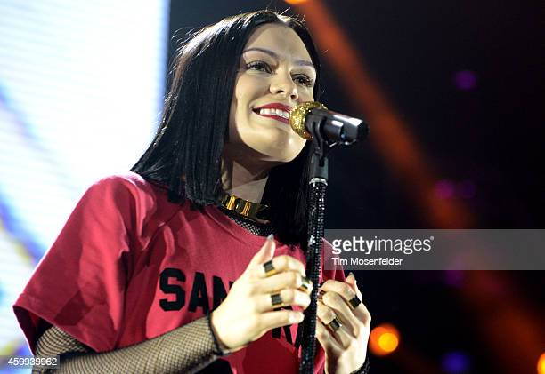 Jessie J performs during Now 997's Triple Ho Show at SAP Center on December 3 2014 in San Jose California