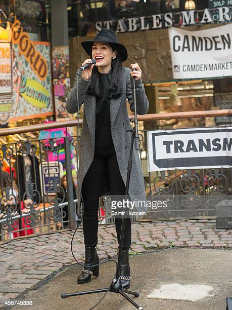 Jessie J performs for fans at Stables Market Camden on October 6 2014 in London United Kingdom