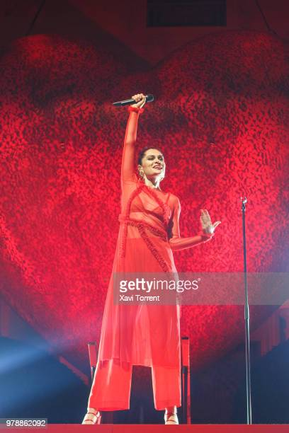 Jessie J performs in concert during Festival Jardins de Pedralbes on June 19 2018 in Barcelona Spain