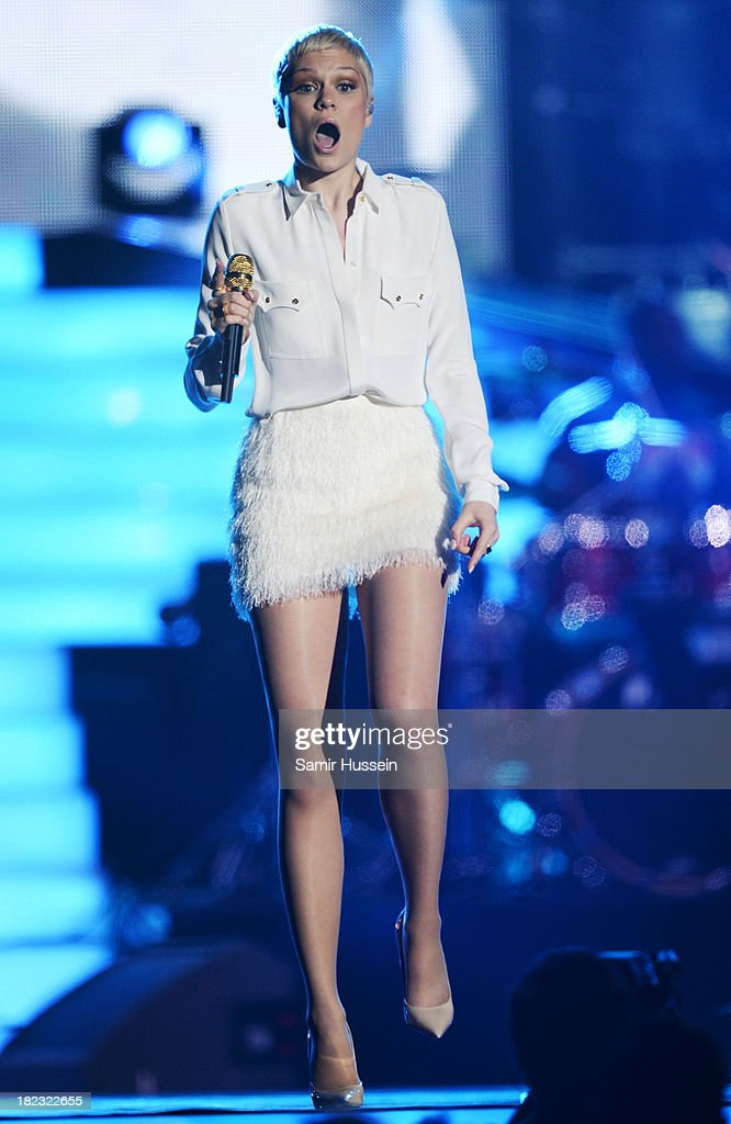 Jessie J performs live on stage at the Unity concert in memory of Stephen Lawrence at O2 Arena on September 29, 2013 in London, England.