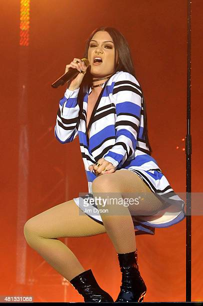 Jessie J performs live on stage during the Summer Series at Somerset House on July 19 2015 in London United Kingdom
