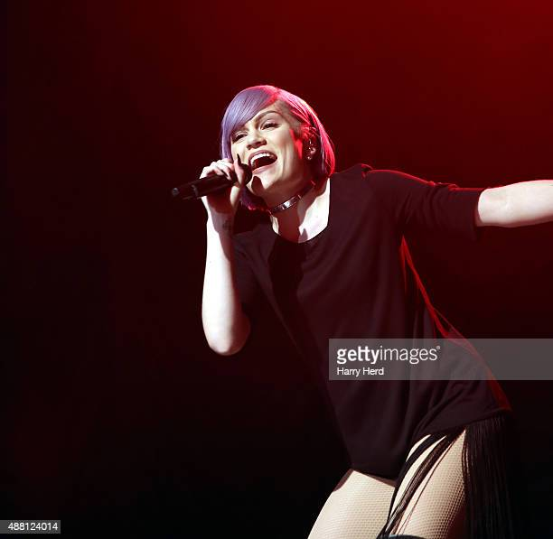 Jessie J performs on day 2 of the Boomerang festival on September 13 2015 in Hickstead West Sussex