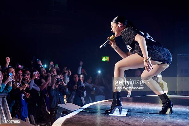 Jessie J performs on stage at Manchester Apollo on January 24 2015 in Manchester United Kingdom