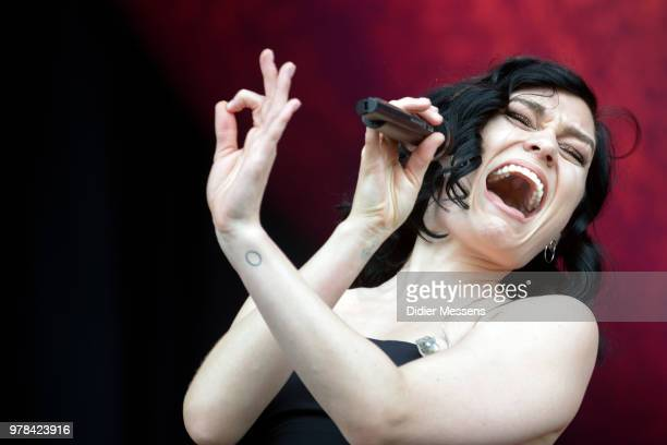 Jessie J performs on stage during day 3 of the Pinkpop festival on June 17 2018 in Landgraaf Netherlands