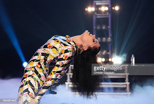 Jessie J performs on stage during the BBC Radio 1Xtra Live tour at Brixton Academy on December 1, 2011 in London, United Kingdom.