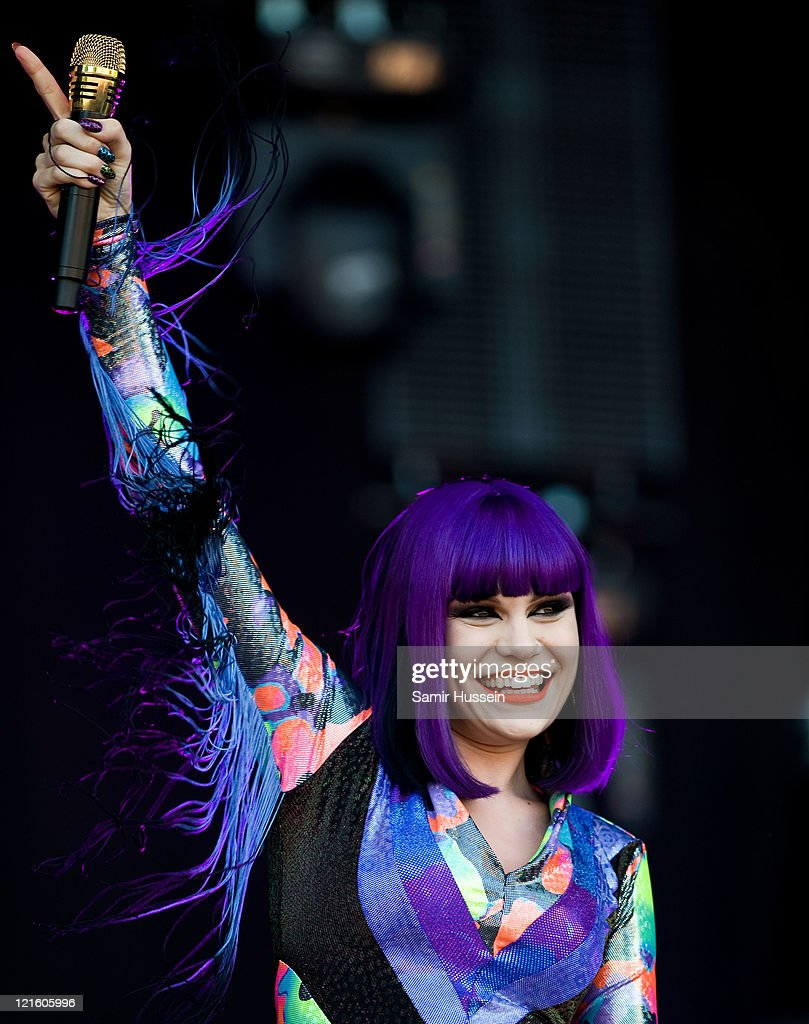 Jessie J performs on the 4 Music Stage on day 1 of the V Festival at Hylands Park on August 20, 2011 in Chelmsford, England.