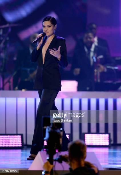 Jessie J performs onstage at the 2017 Soul Train Awards presented by BET at the Orleans Arena on November 5 2017 in Las Vegas Nevada