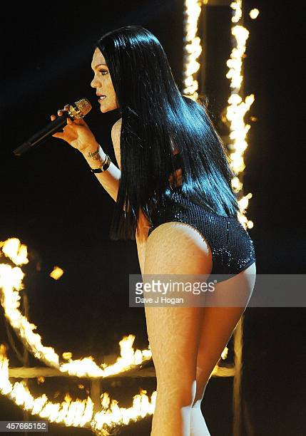 Jessie J performs onstage at the MOBO Awards at SSE Arena on October 22 2014 in London England