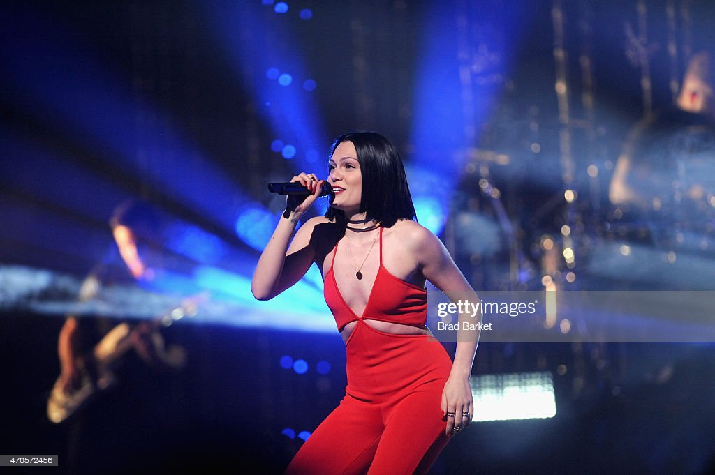 Jessie J performs onstage at the MTV 2015 Upfront presentation on April 21, 2015 in New York City.