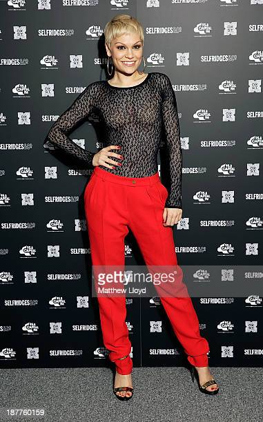 Jessie J prepares to switch on the Oxford Street Christmas lights at Selfridges on Oxford Street on November 12 2013 in London England 515pm Tuesday...