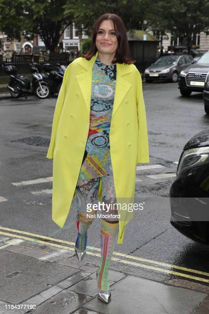 Jessie J promoting The Voice Kids 2019 at KISS FM UK on June 07 2019 in London England