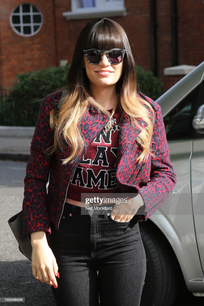 Jessie J seen arriving at BBC Maida Vale Studios on August 16, 2012 in London, England.