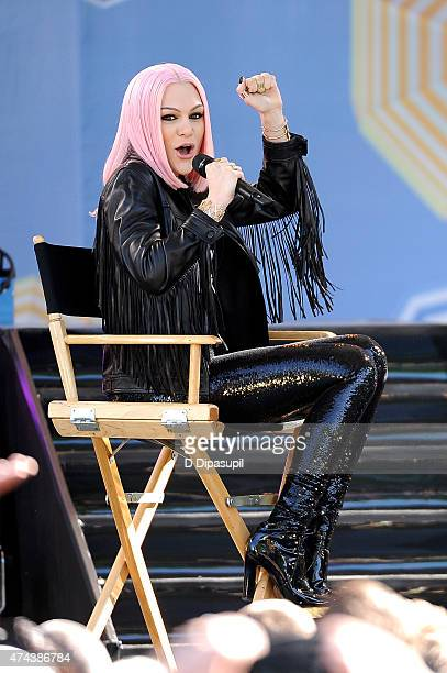 "Jessie J visits ABC's ""Good Morning America"" at Rumsey Playfield, Central Park on May 22, 2015 in New York City."