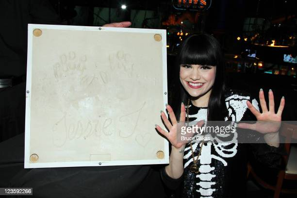 Jessie J visits as she promotes her new cd Who You Are at Planet Hollywood Times Square on May 19 2011 in New York City