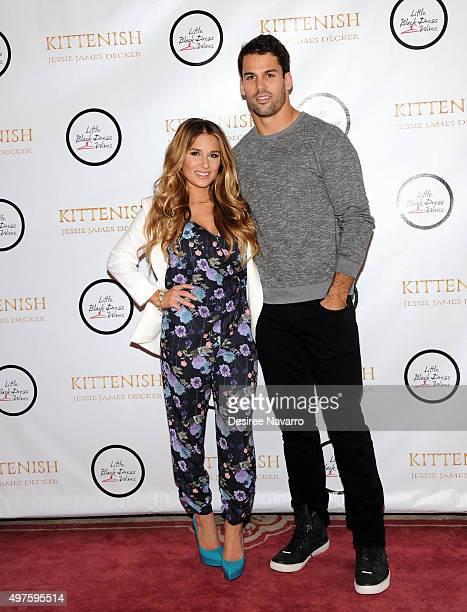 Jessie James Decker and Eric Decker attend Jessie James Decker's 'Kittenish' clothing launch at Gramercy Park Hotel on November 17 2015 in New York...