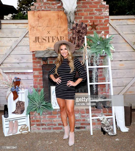 Jessie James Decker attends her JustFab Launch Event at Urban Cowboy Public House on October 03 2019 in Nashville Tennessee