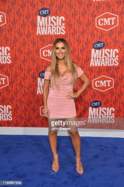 Jessie James Decker attends the 2019 CMT Music Awards at Bridgestone Arena on June 05 2019 in Nashville Tennessee