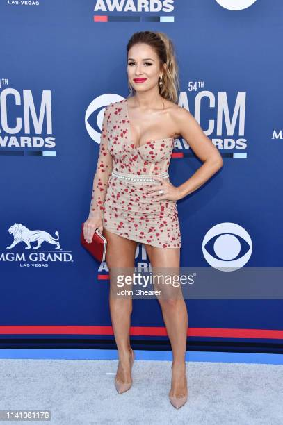 Jessie James Decker attends the 54th Academy Of Country Music Awards at MGM Grand Hotel Casino on April 07 2019 in Las Vegas Nevada