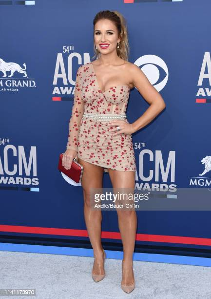 Jessie James Decker attends the 54th Academy of Country Music Awards at MGM Grand Garden Arena on April 07 2019 in Las Vegas Nevada