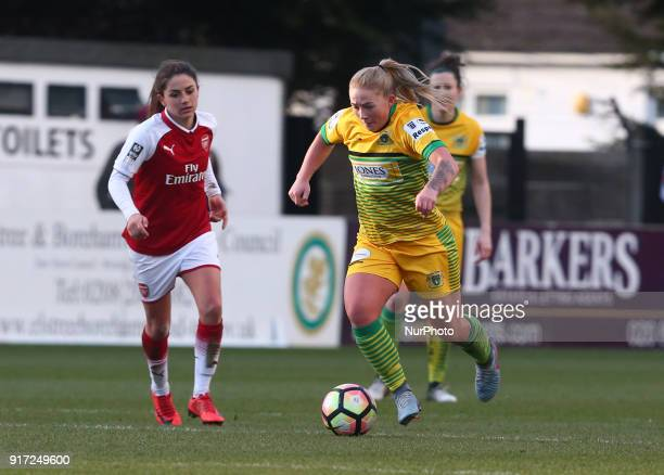 Jessie Jones of Yeovil Town Ladies during Women's Super League 1match between Arsenal against Yeovil Town Ladies at Meadow Park Boreham wood FC on 10...