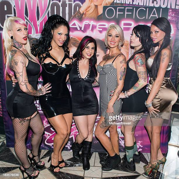Jessie Lee Rubber Doll Joanna Angel Kleio Valentien Draven Starr and Raven Bay attend the SINS eXXXotica After Party at Sapphire New York on October...