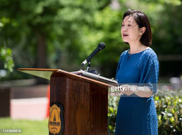Jessie Liu the US attorney for the District of Columbia speaks during the Washington Area Law Enforcement Memorial Service on Monday May 6 2019