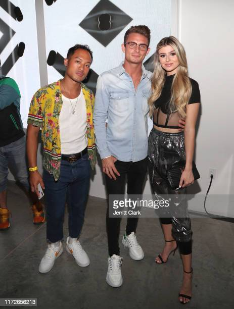 Jessie Montana James Kennedy and Raquel Leviss attend Airgraft's Art Of Clean Vapor PopUp Launch Party on September 05 2019 in Los Angeles California
