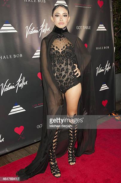 Jessie Morrison attends Caroline Burt DJs At Victoria Fuller's The Beauty Code Art Show at The Redbury Hotel on February 25 2015 in Hollywood...