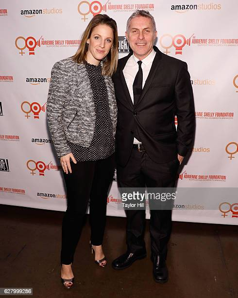 Jessie Mueller and Andy Ostroy attend the Adrienne Shelly Foundation 10th Anniversary Gala at The Angel Orensanz Foundation on December 5 2016 in New...