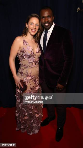 Jessie Mueller and Joshua Henry attend the Opening Night After Party for 'Carousel' at the Cipriano 25 on April 12 2018 in New York City